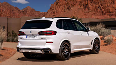 BMW X5 static rear three-quarter