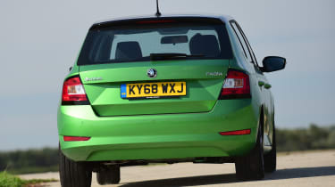 Skoda Fabia hatchback rear cornering