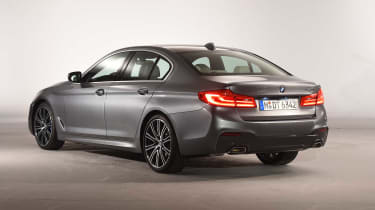 While most models come with 18 or 19-inch alloy wheels, note the 520d has 17-inch alloys