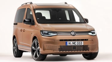 Volkswagen Caddy in brown - front end
