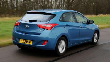 Hyundai i30 - rear 3/4 view