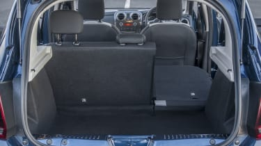 The boot measures 320 litres in size and can be expanded to 1,200 litres by folding down the rear seats