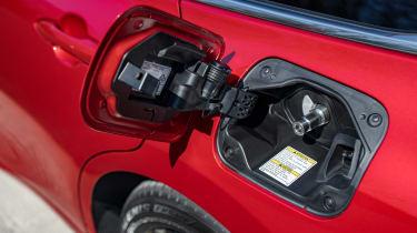 Toyota Mirai saloon charging flap