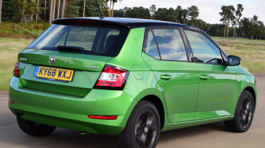 Skoda Fabia hatchback rear 3/4 tracking