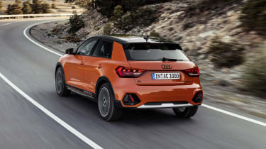 Audi A1 Citycarver driving - rear