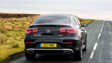 Mercedes GLC Coupe SUV rear tracking