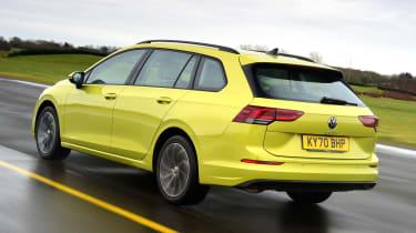 Volkswagen Golf Estate rear 3/4 tracking