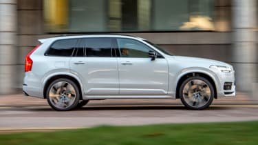 Volvo XC90 Recharge driving - side view