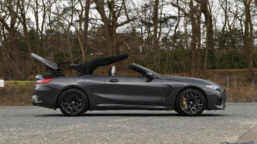 BMW M8 Convertible side roof folding