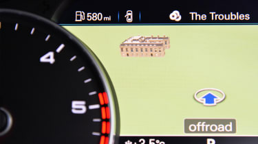 Sat nav maps can be displayed between the dashboard instruments