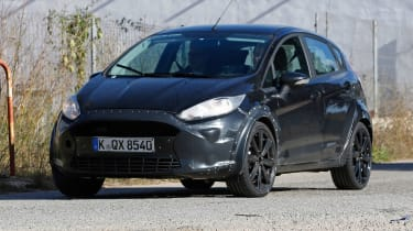The disguised prototype didn't conceal the Fiesta's overall shape