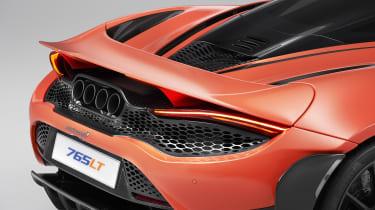 McLaren 765LT rear - spoiler down