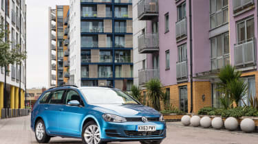 The VW Golf Estate is a more practical version of the hugely popular hatchback