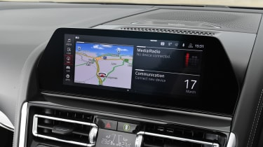 BMW M8 Convertible infotainment display