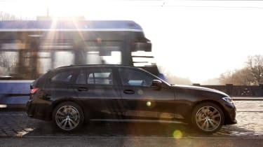 2020 BMW 330e Touring - side view dynamic