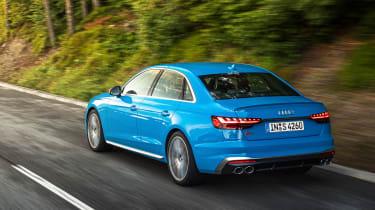 Audi S4 saloon rear 3/4 tracking