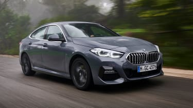 BMW 2 Series Gran Coupe saloon front 3/4 tracking