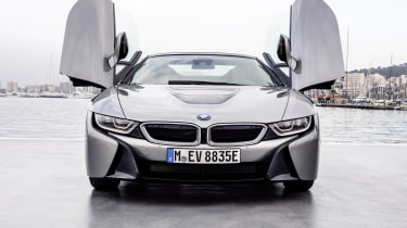 Yet, when the petrol engine is engaged, the i8 Roadster's top speed is an electronically limited 155mph