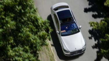 2020 Mercedes S-Class - aerial view