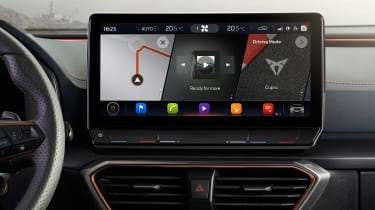Cupra Formentor SUV infotainment display