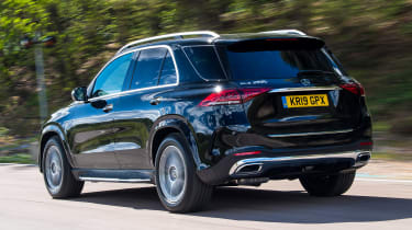 Mercedes GLE SUV rear 3/4 tracking