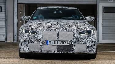 2020 BMW M4 prototype front end