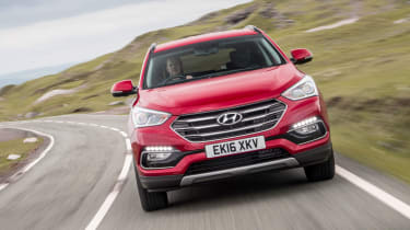The Hyundai Santa Fe is a full-size SUV with room for seven people and a big boot