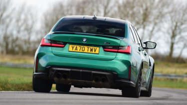 BMW M3 Competition saloon - rear view