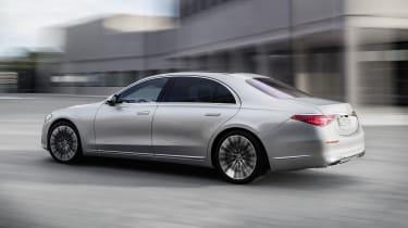 2020 Mercedes S-Class - rear 3/4 view dynamic