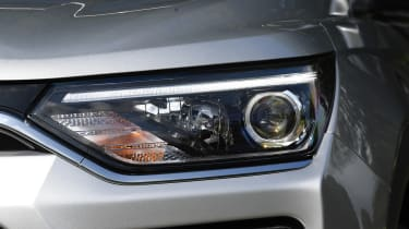 SsangYong Korando SUV headlights