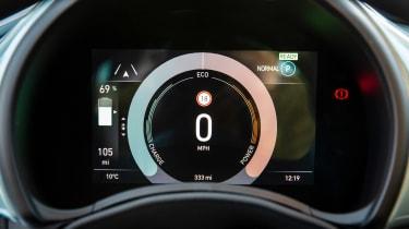 Fiat 500 hatchback digital instruments