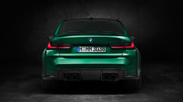 2021 BMW M3 Competition saloon - rear view static