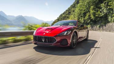 Maserati GranTurismo coupe front tracking