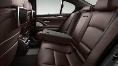 BMW 5 Series 2013 saloon rear seats