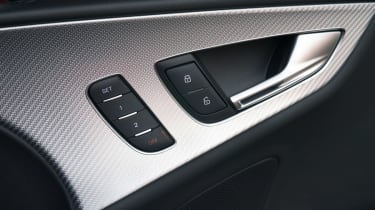 The RS7 has a contemporary interior design, with aluminium inlays lifting the ambience