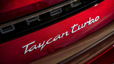 Porsche Taycan Cross Turismo rear badge