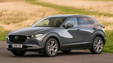Mazda CX-30 SUV front 3/4 action