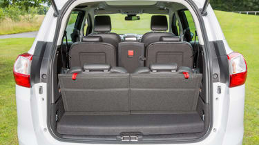 With all seven seats in use, the boot shrinks to a tiny 65 litres, so a roofbox might be necessary
