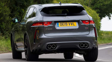 Jaguar F-Pace SUV rear cornering