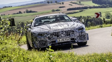 2021 Mercedes SL in camouflage - front end