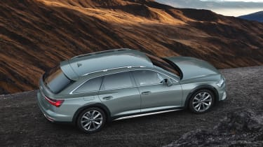 New 2019 Audi A6 Allroad estate - rear side view driving