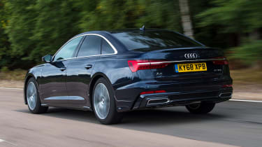 Audi A6 saloon rear 3/4 tracking
