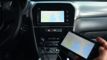 Some versions have a rear-view camera to aid parking manoeuvres