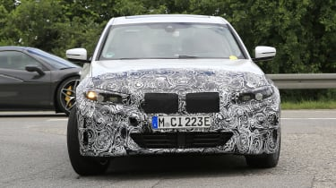 Electric BMW 3 Series prototype front end