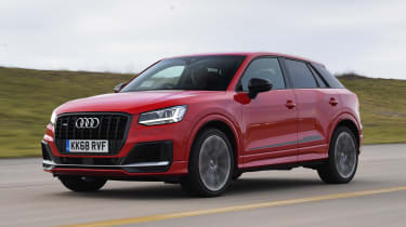 Audi SQ2 SUV front tracking