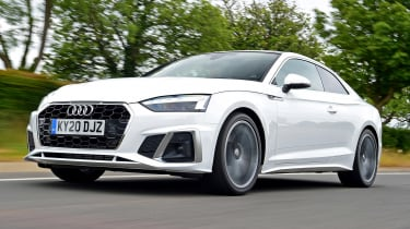 Audi A5 Coupe front 3/4 tracking