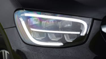 Mercedes GLC SUV LED headlights