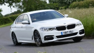 With a total of 248bhp produced by its petrol and electric motor, the BMW 530e can get from 0-62mph in 6.2 seconds