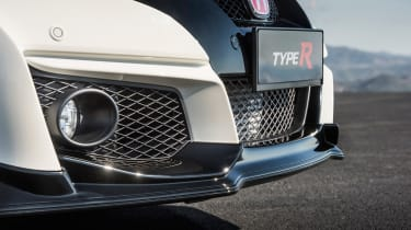 Honda Civic Type-R front bumper, splitter and vents