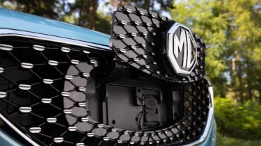 MG ZS EV SUV charging flap